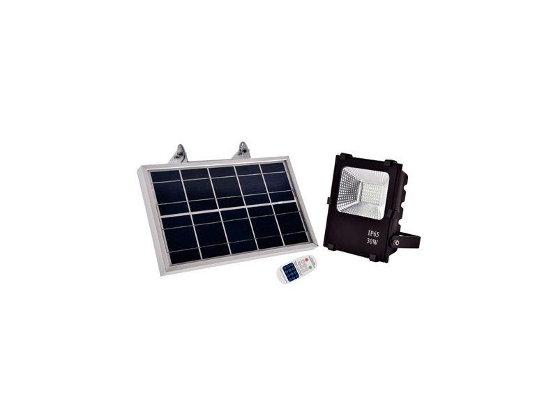 FOCO LED CON SOLAR 30W