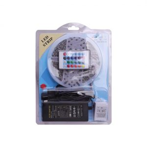 CINTA LED CON CONTROL 5M 60LEDS RGB