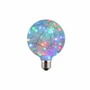 AMPOLLETA LED E27 DECORATIVA G95 1.7W RGB