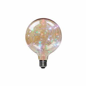 AMPOLLETA LED E27 DECORATIVA G125 1.7W RGB