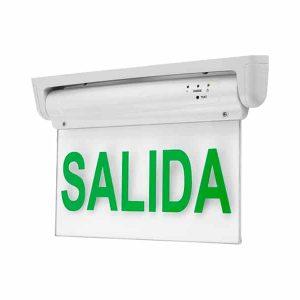 LUZ LED DE EMERGENCIA TRANSPARENTE CON FOTO SALIDA
