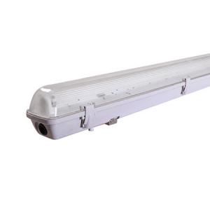 ESTANCO PARA TUBO LED TRANSPARENTE 120CM IP65