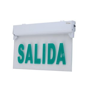 LUZ LED DE EMERGENCIA TRANSPARENTE CON LETRERO SALIDA