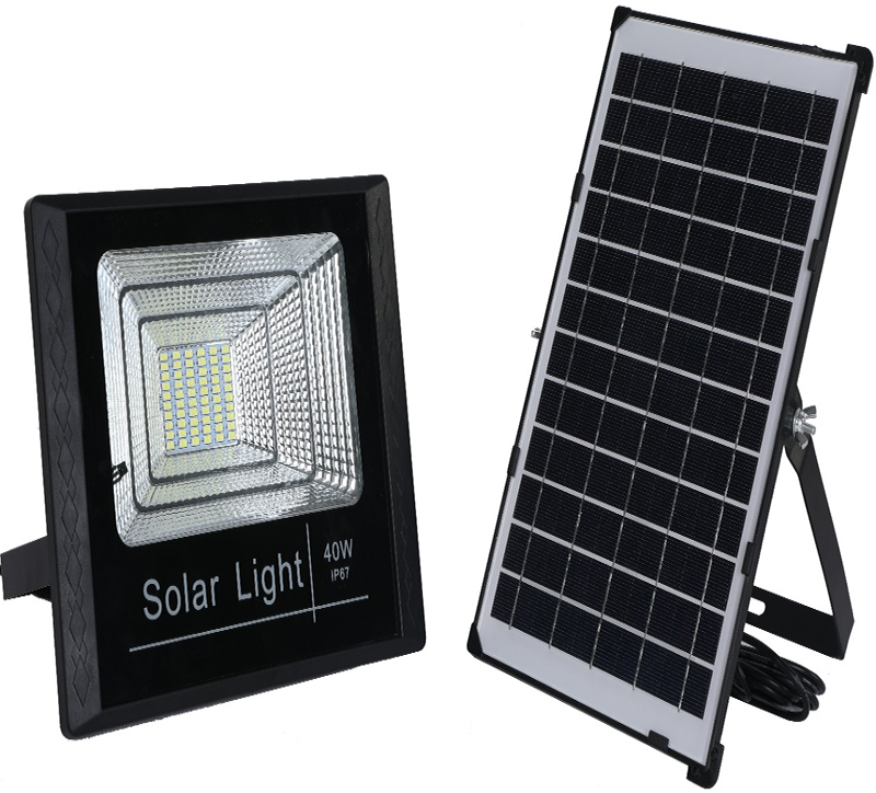 PROYECTOR LED 40W CON SOLAR 6500K