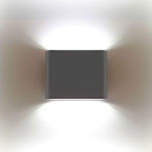 APLIQUE LED 2*5W NEGRO 3000K